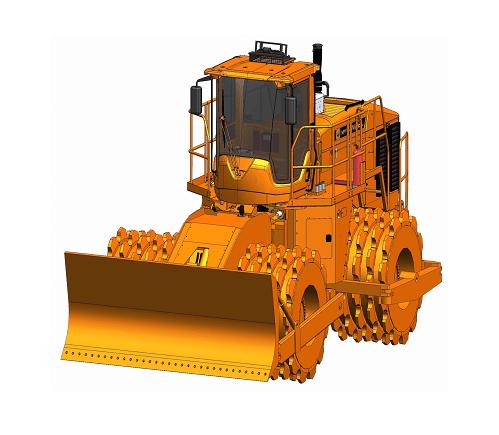 355 - 4 PP Potencia 388 CV Ancho de compactación 380 cm Fuerza de compactación 82,75 Kg/cm Peso 35.000 Kg