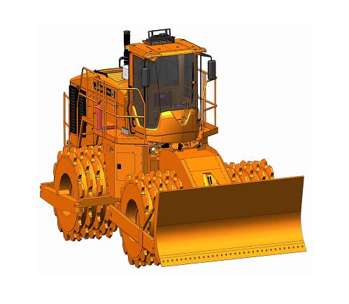 405 - 4 PP Potencia 388 CV Ancho de compactación 440 cm Fuerza de compactación 95,5 Kg/cm Peso 42.000 Kg