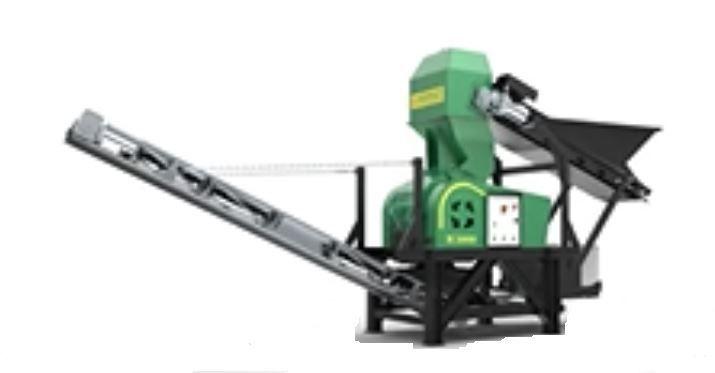 M 2000  Tamaño Tolva 200x360 mm  Granulometría 0-25 mm  Producción 1-8 T/hora  Potencia 7,5 CV  Peso 900 kg     Inglés