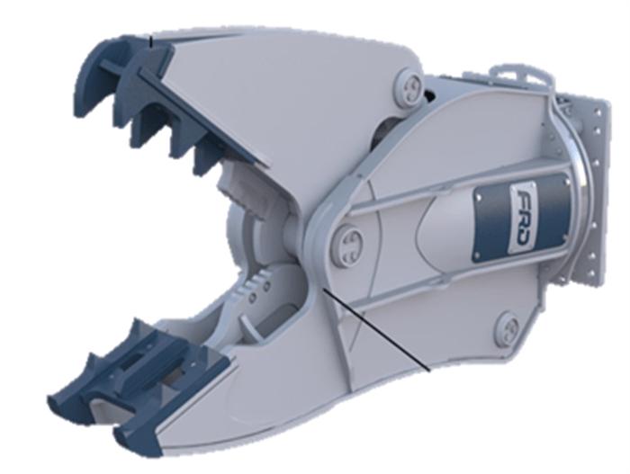 VM10ER Peso de Máquina 6-13 ton Largo de Corte 85 mm Apertura 550 mm Fuerza Apriete Punta 40 kN Rotación Sí Peso Cizalla 630 Kg Inglés