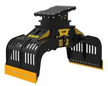 G1200 Máquina 18-25 ton Capacidad carga 0,71 m3/710 l Capacidad rotación  20-35 l/min Caudal 50 l/min Presión rotación 200 Pres abertura/cierre 300-400 bar Peso 1.600 Kg Español