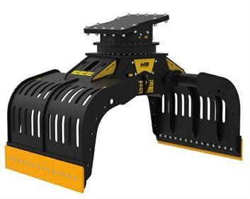 G1500 Máquina 20-25 ton Capacidad carga 1,43 m3/1.430 l Capacidad rotación  25-40 l/min Caudal 50 l/min Presión rotación 200 Pres abertura/cierre 300-400 bar Peso 2.000 Kg Español