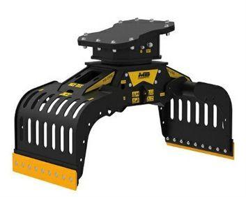G900 Máquina 12-18 ton Capacidad carga 0,43 m3/430 l Capacidad rotación  8-20 l/min Caudal 30 l/min Presión rotación 160 Pres abertura/cierre 200-400 bar Peso 780 Kg Español