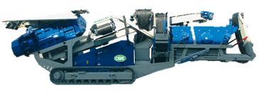 CENTAURO 120.56 Boca 1200x900 mm Tolva 3 m3 Producción 180 t/h Criba vibrante 4.250x1.300 mm Peso 27.000 kg Inglés